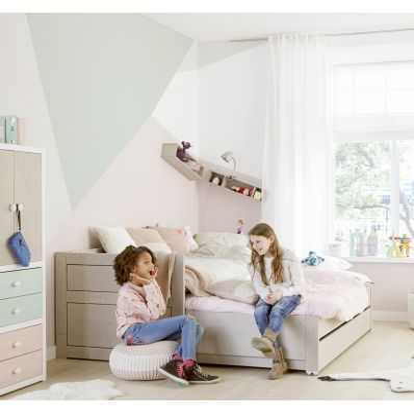 Cameretta con letto estraibile singolo e cassettone Cabin Bed