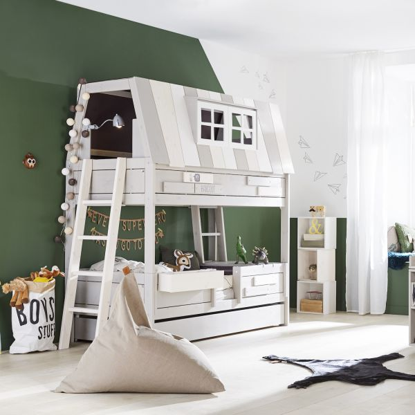 Letto A Castello 1 Persona.Letto A Castello Design Per Bambini A Forma Di Casetta In Legno My