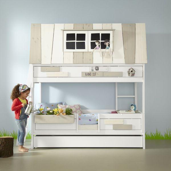 Cameretta per bambini a due piani in legno Hangout