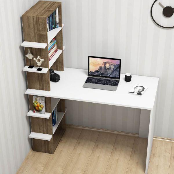 Dettagli su BOOKER scrivania con libreria integrata DESIGN moderno per camera ragazzi