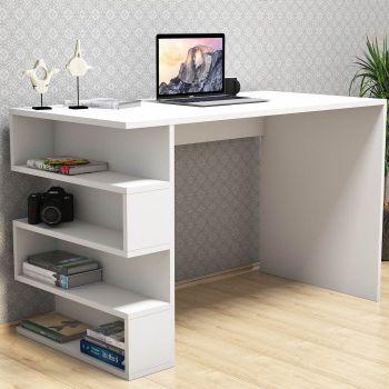 Scrivanie ufficio moderne e angolari in vetro o legno for Libreria con scrivania incorporata