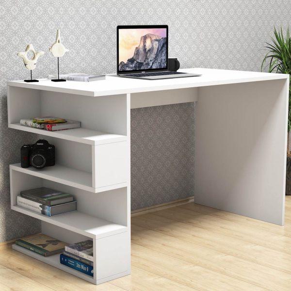 Scrivania con libreria incorporata design dalton for Libreria per scrivania