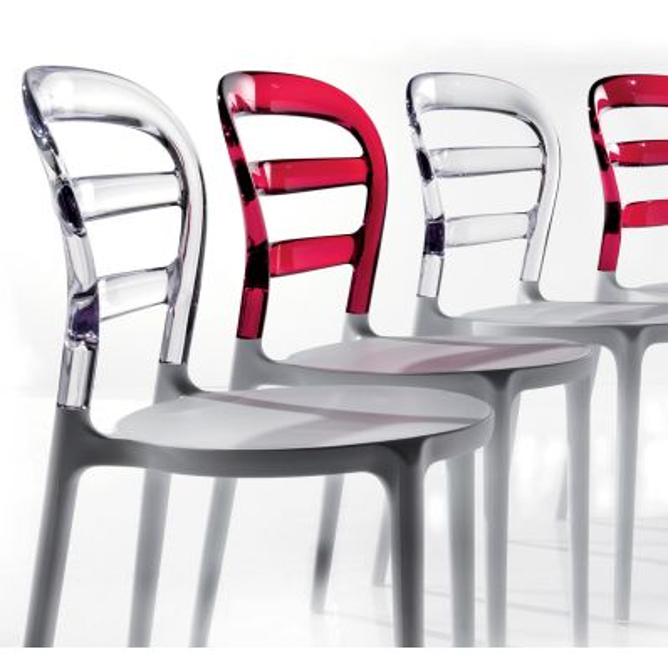 Sedia moderna per sala da pranzo jodene for Sedia bianca moderna