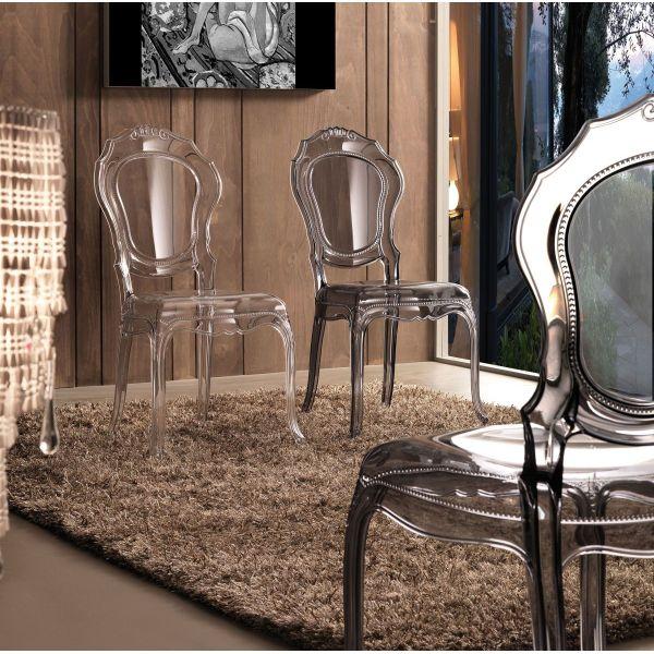 Poltrone In Plastica Stile Barocco.Sedia Da Soggiorno Stile Barocco In Policarbonato Karlene