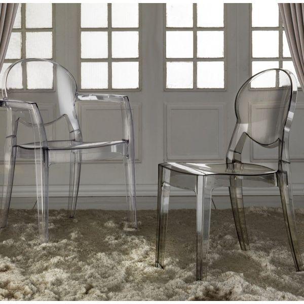 Sedia in policarbonato trasparente design moderno Elsi