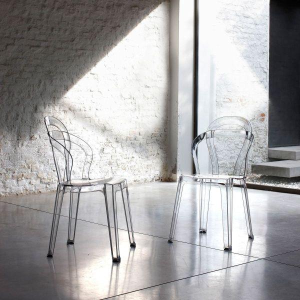 Sedia moderna impilabile da cucina in policarbonato Arsemid