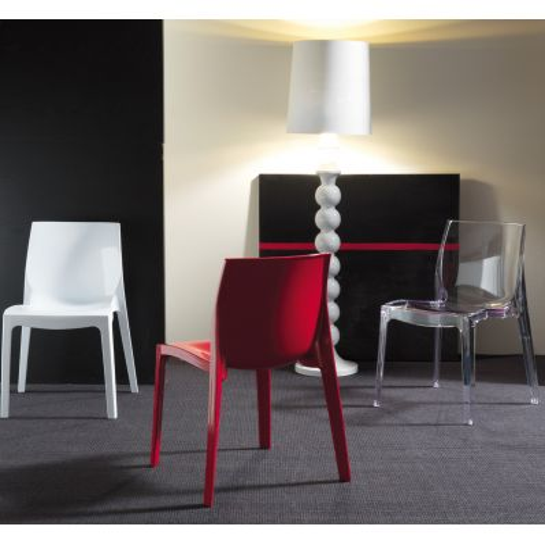 Sedia Da Cucina Plastica.Sedia Da Cucina Impilabile Design In Plastica Poiane