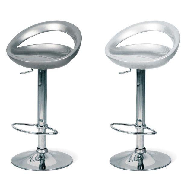 Sgabello moderno cucina con sedile bianco o grigio Riwal
