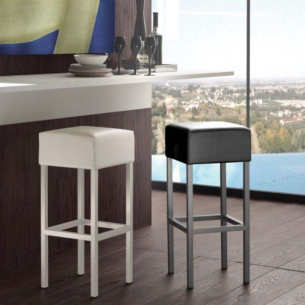 Sgabello da bar design moderno bianco o nero Privel