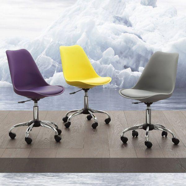 Sedia da ufficio con rotelle design moderno Aphia