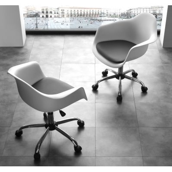 Sedia girevole per scrivania con braccioli Bibiane