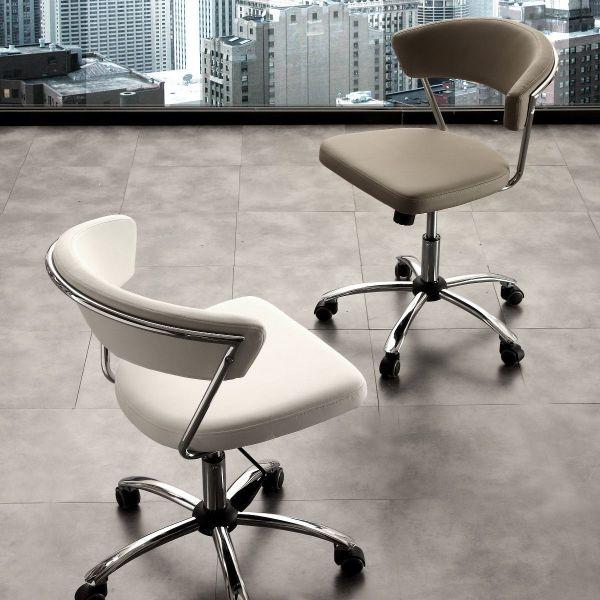 Sedia da ufficio comoda design bianco e tortora engleisina for Design da ufficio