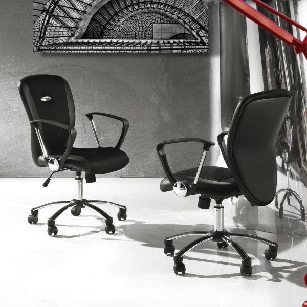 Sedia da ufficio con ruote e braccioli ergonomica Mosseira