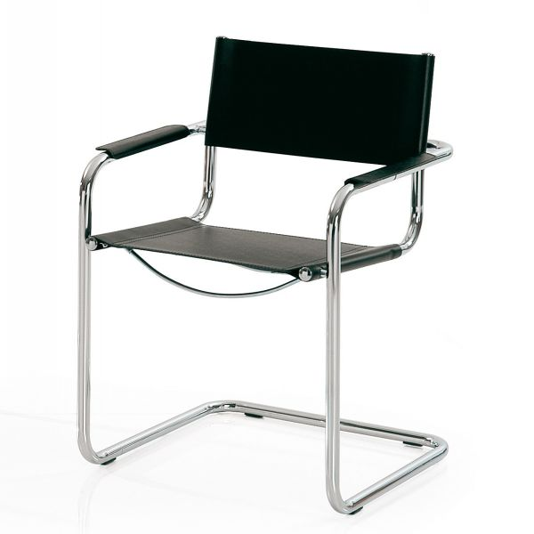 Sedie Metallo E Cuoio.Sedia Urbania Design Minimal In Cuoio Per Sala D Attesa O