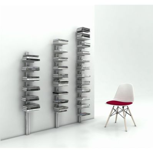 Libreria verticale metallo da parete Ambrogio