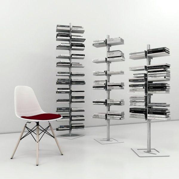 Libreria verticale autoportante in alluminio e acciaio Dotto