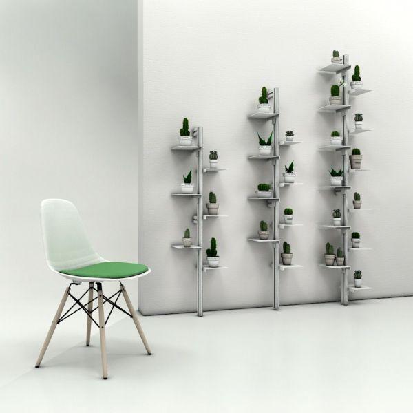 Libreria verticale da parete in acciaio e alluminio Mr Green