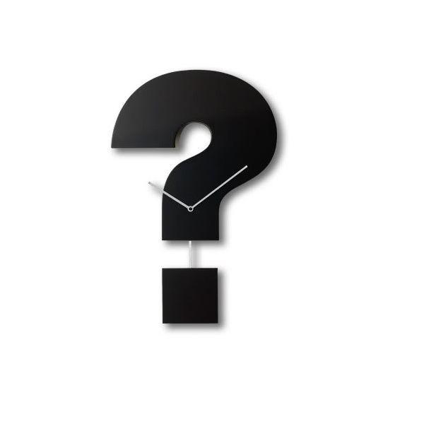 Orologio da parete moderno con pendolo Question Time