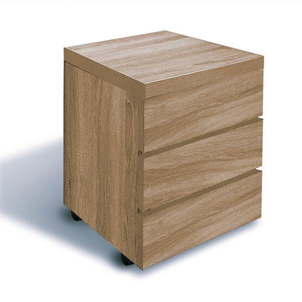 Cassettiera ufficio design moderno in legno su ruote Kimmy