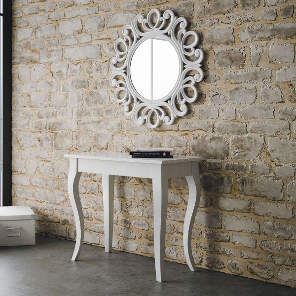 Consolle allungabile in legno moderna Bianco o Noce 300 cm Nobility