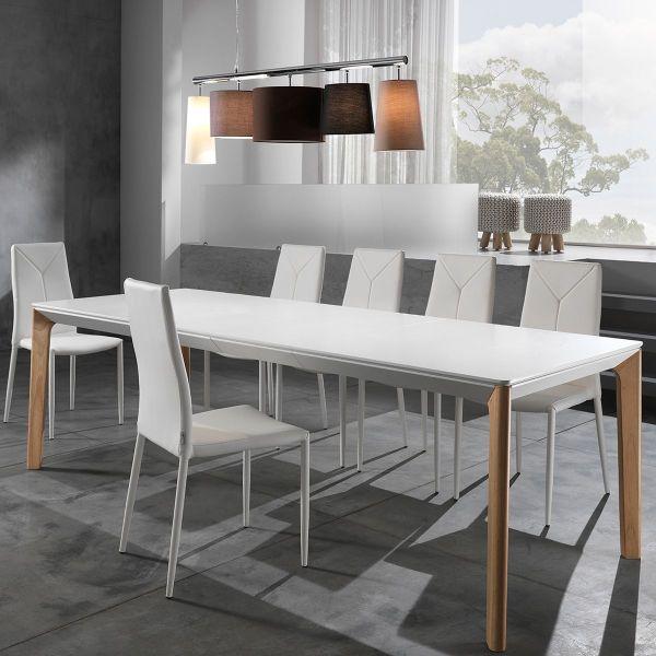 Tavolo pranzo allungabile design minimal Talles da 160 a 240 cm