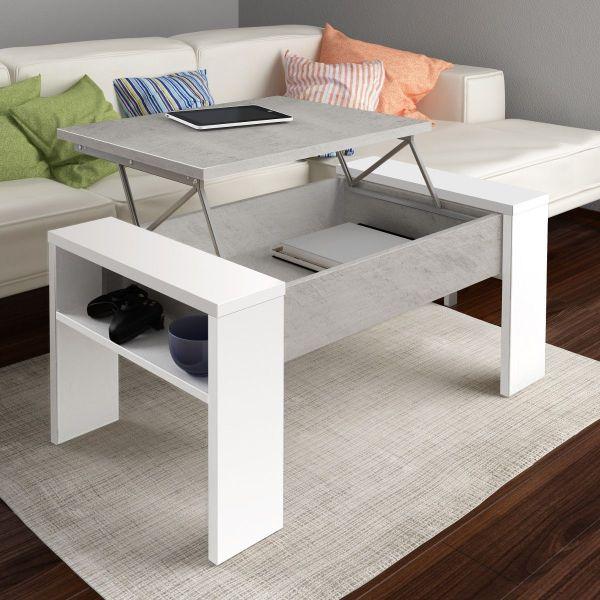 Tavolino da salotto con contenitore design moderno garliz for Tavolo salotto