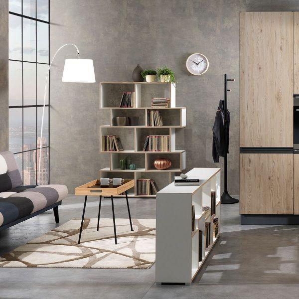 Libreria scaffale in legno per casa e ufficio design moderno Fraine