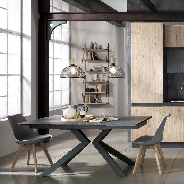 Tavolo Da Pranzo Moderno In Vetro.Tavolo Vetro Allungabile Hatgal Moderno