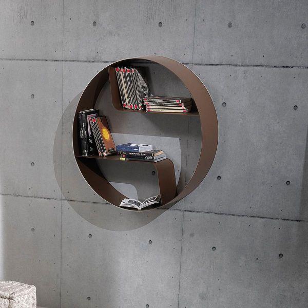 Libreria a muro moderna soggiorno rotonda Gemerek