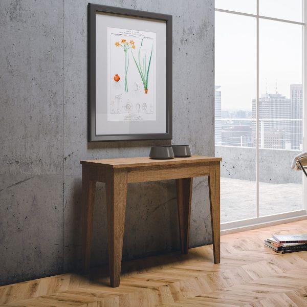 Consolle allungabile design moderno in legno Bianco o Quercia fino a 300 cm Auda