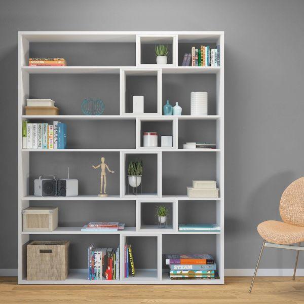 Libreria da parete per soggiorno in legno 125x184cm Coventry