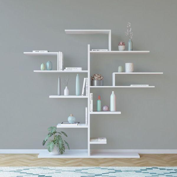Libreria a parete a forma di albero 160x175cm laurel - Albero su parete ...