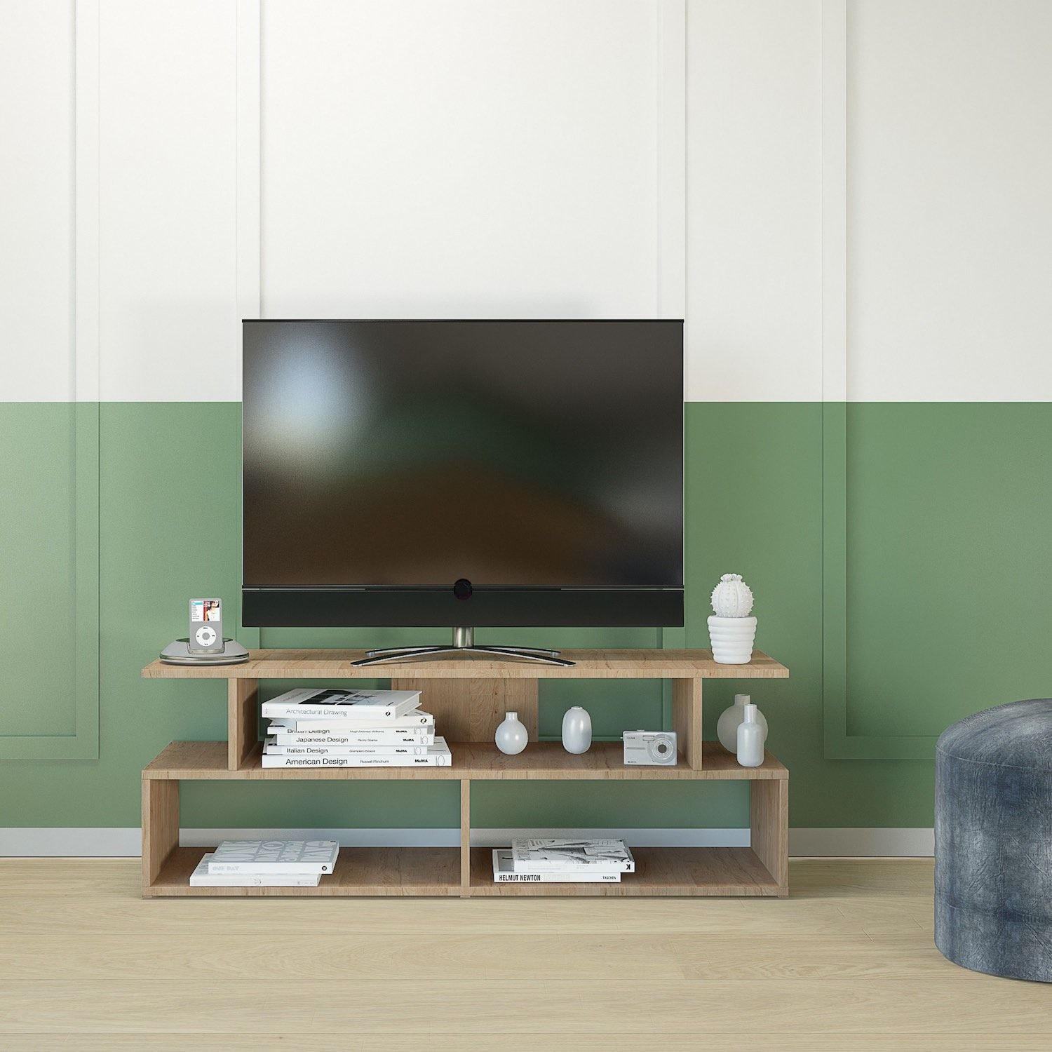 Mobiletto porta tv design in legno 120x40 cm enduring for Mobiletto design
