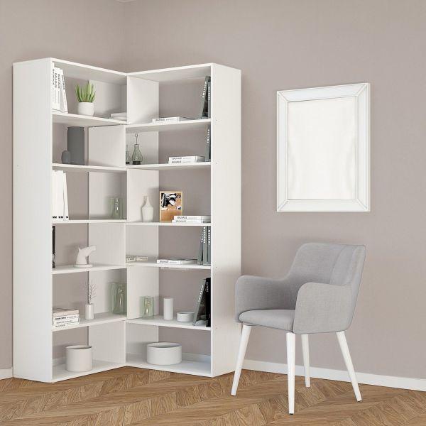 Libreria ad angolo moderna salvaspazio Foldy