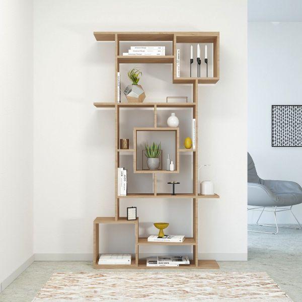 Libreria bifacciale divisoria separa ambienti in legno Julieta