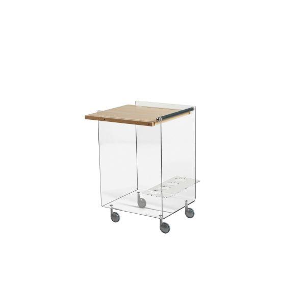 Carrellino per cucina in plexiglass design moderno Ambrogio