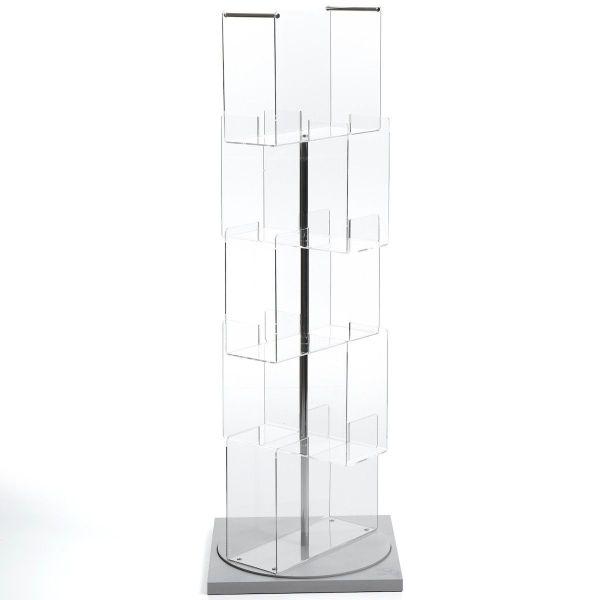 Porta CD a colonna girevole in plexiglass Babele