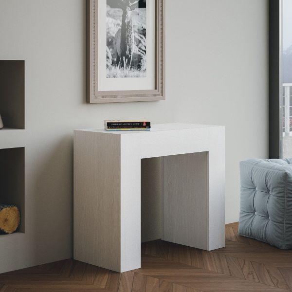 Consolle tavolo allungabile fino a 300 cm in legno bianco Linette