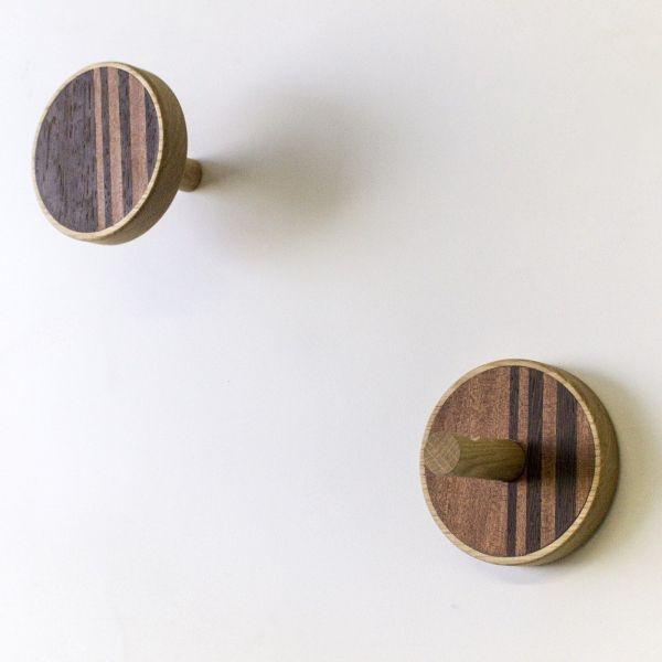 Coppia appendiabiti da parete design in legno Vertical Warm