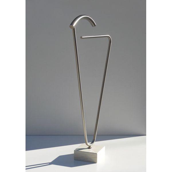 Servomuto design moderno in acciaio e marmo Caress