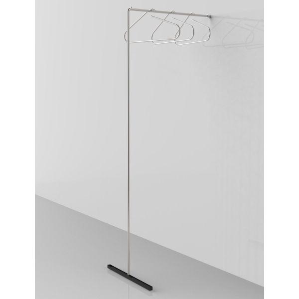 Stand appendiabiti a parete in acciaio Less Is More