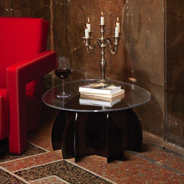 Tavolino soggiorno design moderno in plexiglass Atlante