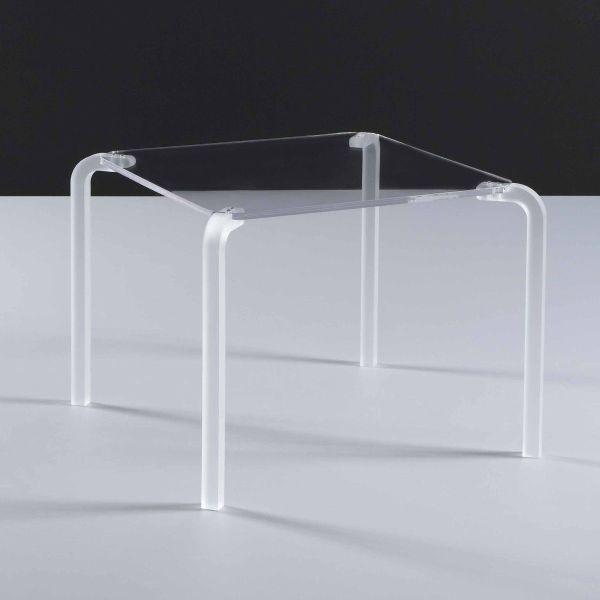 Tavolino quadrato da salotto in plexiglass Finny