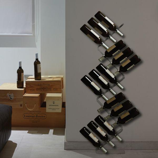 Moderno Portabottiglie Vino Da Parete Design.Cantinetta Portabottiglie Vino Da Parete Design Moderno In