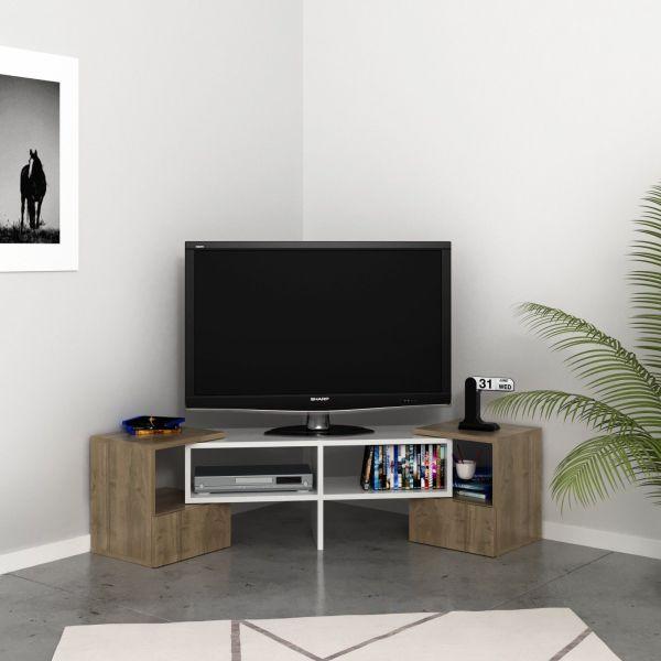 Mobile TV angolare design moderno in legno Harrison
