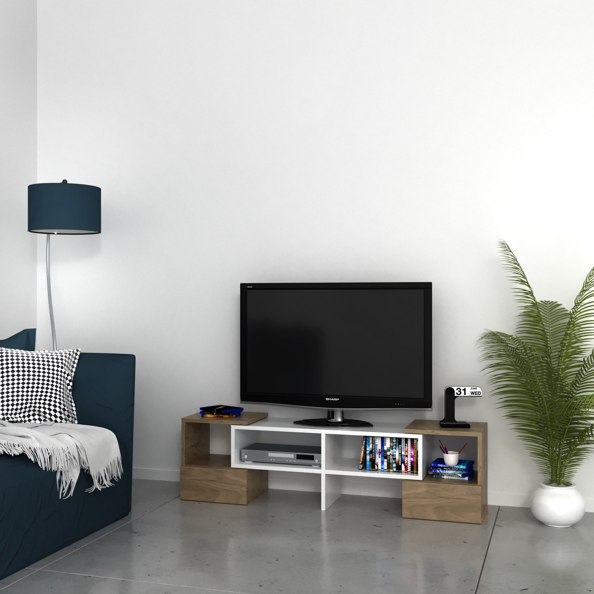 Porta Tv Angolare Design.Mobile Tv Angolare Design Moderno In Legno Harrison
