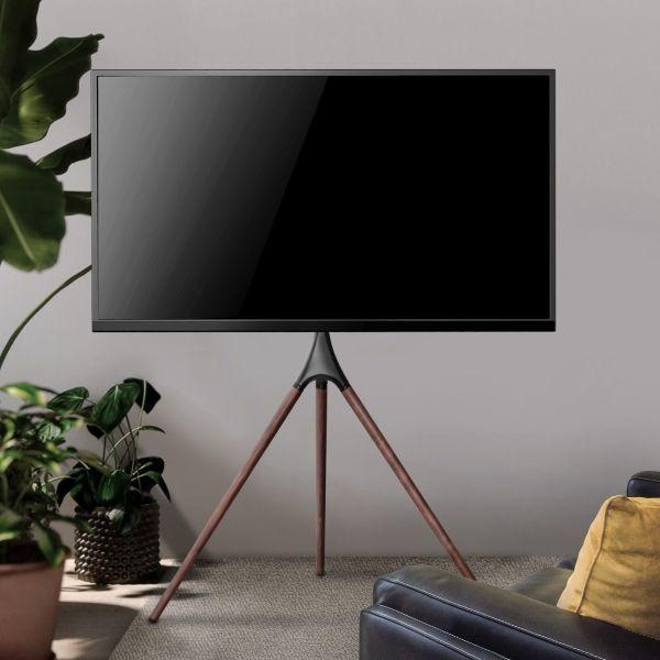 Treppiedi porta TV da 45 a 65 pollici VESA 600x400 con staffa girevole Dandy