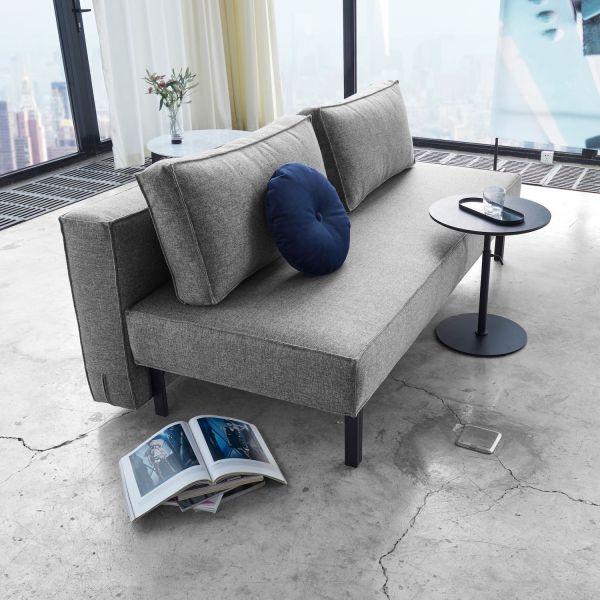 Divano letto uso quotidiano materasso a molle Sly - 563 Twist Charcoal