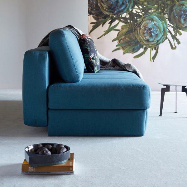 Divano-letto con contenitore design moderno Svala