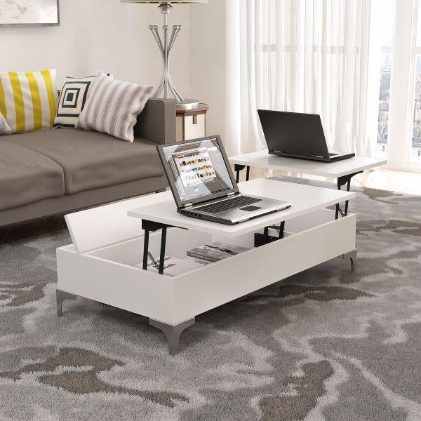 Tavolino da salotto con piano alzabile Zenden